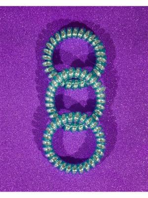 Резинка пружинка Bizon. Цвет: бирюзовый