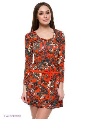 Платье CATHERINE'S. Цвет: оранжевый, зеленый