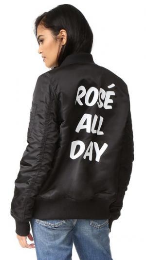 Бомбер Rose All Day Private Party. Цвет: голубой
