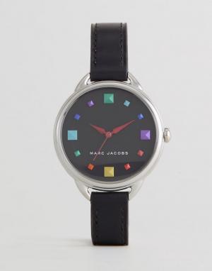 Marc Jacobs Часы с черным кожаным ремешком MJ1589 Betty. Цвет: черный