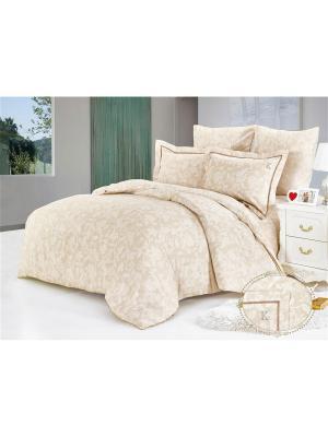 Комплект постельного белья, Кампаньола, Семейный KAZANOV.A.. Цвет: молочный
