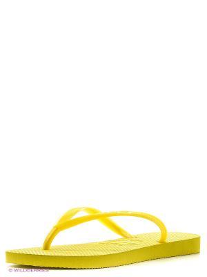 Шлепанцы Havaianas. Цвет: желтый, золотистый