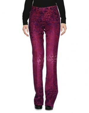 Повседневные брюки TRUE ROYAL. Цвет: пурпурный