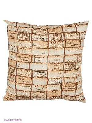 Подушка на стул Domane 45х45 см T&I. Цвет: коричневый