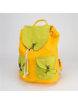 Городской рюкзак TIMBAG. Цвет: салатовый, желтый, красный