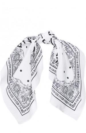 Хлопковая бандана с принтом Dolce & Gabbana. Цвет: белый
