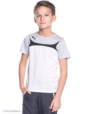 Футболка Esito 3 Training Jersey Puma. Цвет: белый, серый