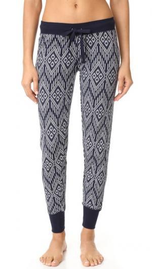Пижамные брюки  с рисунком в стиле батика PJ Salvage. Цвет: темно-синий