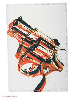 Обложка для автодокументов Пистолет Mitya Veselkov. Цвет: белый, красный
