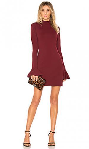Платье isolde Susana Monaco. Цвет: вишня