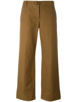 Укороченные брюки Aspesi. Цвет: коричневый