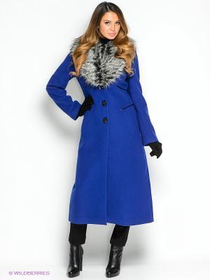 Пальто TOPSANDTOPS. Цвет: синий, белый, черный