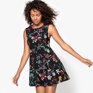 Платье короткое, без рукавов MOLLY BRACKEN. Цвет: черный/рисунок цветочный