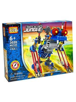Электромеханический конструктор IROBOT. Серия: Джунгли. МегаЖук Loz. Цвет: синий