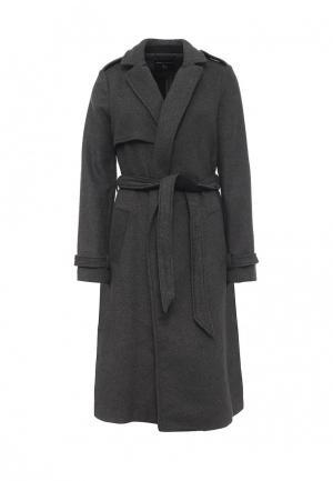 Пальто Dorothy Perkins. Цвет: серый
