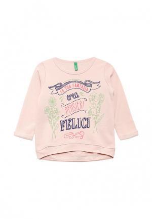 Свитшот United Colors of Benetton. Цвет: розовый
