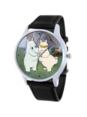 Дизайнерские часы Мумми-тролли Tina Bolotina. Цвет: черный, зеленый, розовый, светло-голубой