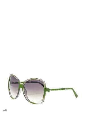 Очки солнцезащитные Vittorio Richi. Цвет: зеленый