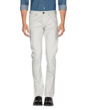 Повседневные брюки ONE SEVEN TWO. Цвет: светло-серый