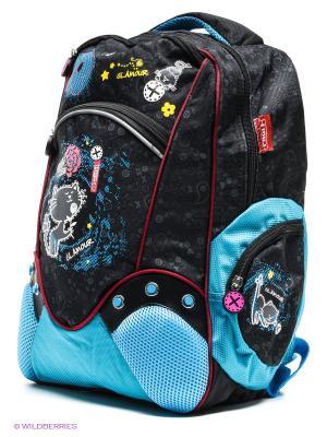 Рюкзак PROFF. Цвет: черный, лазурный