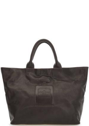 Коричневая кожаная сумка с короткими ручками Io Pelle. Цвет: коричневый