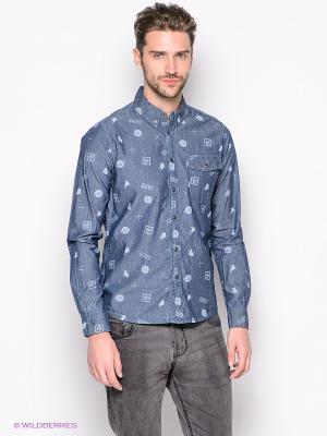 Рубашка OUTFITTERS NATION. Цвет: серо-голубой