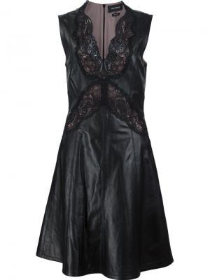 Платье с кружевными деталями Yigal Azrouel. Цвет: чёрный