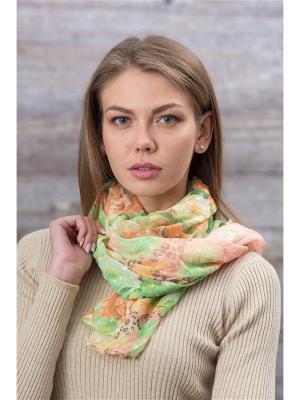 Палантин Krife. Цвет: зеленый,оранжевый