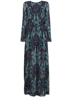 Длинное платье с цветочным принтом Ingie Paris. Цвет: многоцветный