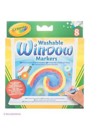Набор смываемых маркеров для рисования на стекле Crayola. Цвет: зеленый