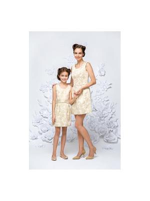 Платье жаккардовое золотое Gioia di Mamma