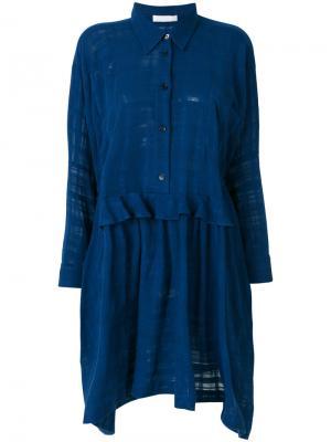 Платье-рубашка Peter Jensen. Цвет: синий