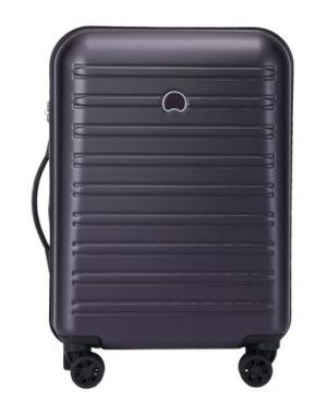 Чемодан/сумка на колесиках DELSEY. Цвет: фиолетовый