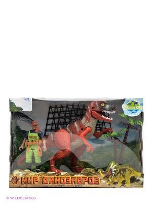 Набор динозавров Happy Kin. Цвет: красный