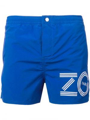 Пляжные шорты с логотипом Kenzo. Цвет: синий