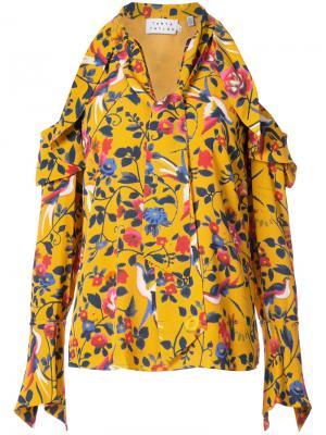 Блузка Adriene с цветочным принтом Tanya Taylor. Цвет: жёлтый и оранжевый