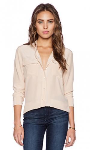 Облегающая блуза signature Equipment. Цвет: персиковый