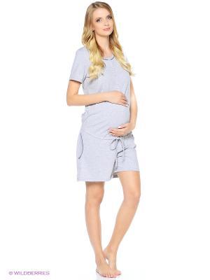 Домашний комбинезон для беременных и кормящих Hunny Mammy. Цвет: серый