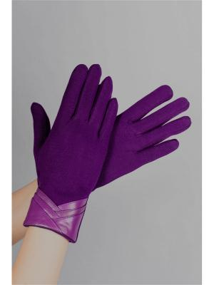 Пеpчатки Sophie Ramage. Цвет: фиолетовый