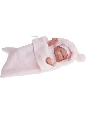 Кукла-младенец Карла в конверте, розовом, 26 см Antonio Juan. Цвет: бледно-розовый