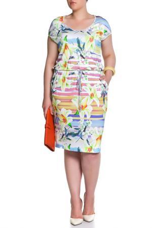 Платье Forus. Цвет: цветной