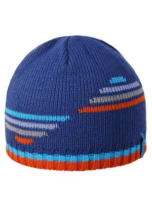 Шапка Achti. Цвет: синий, голубой, оранжевый