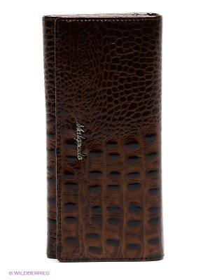 Кошелек Malgrado. Цвет: коричневый