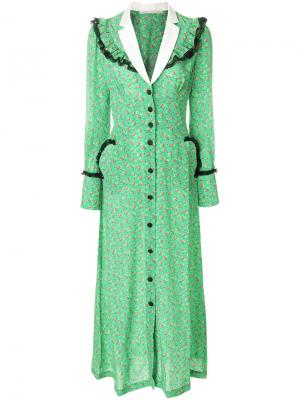 Платье макси с цветочным принтом Alessandra Rich. Цвет: многоцветный