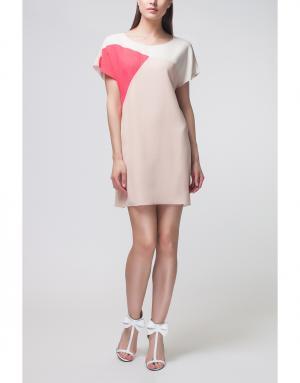 Платье с принтом Bouchra Jarrar. Цвет: палевый розовый, розовый