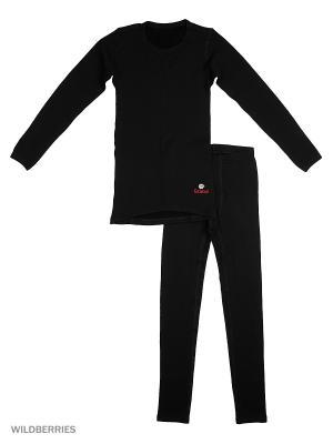 Комплект термобелья Dr.Wool. Цвет: черный