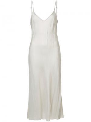 Платье на бретелях Organic By John Patrick. Цвет: серый