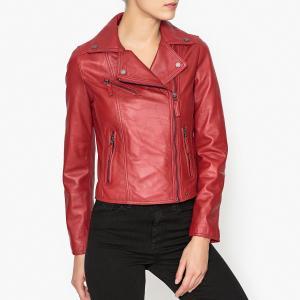 Блузон кожаный на молнии CLIP OAKWOOD. Цвет: красный,синий,черный