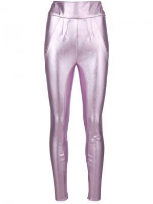 Леггинсы с эффектом металлик Alyx. Цвет: розовый и фиолетовый