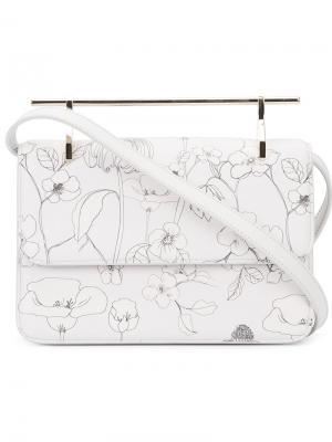 Floral print shoulder bag M2malletier. Цвет: серый